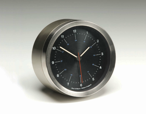 Short & Mason Steel Clock by Kenneth Grange (1966)