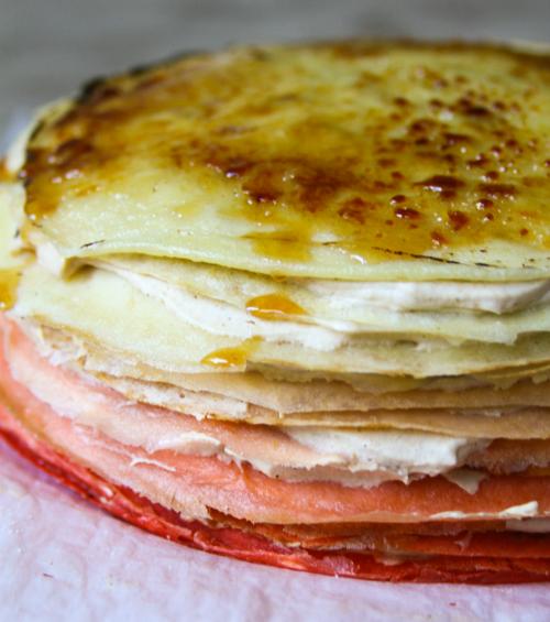 Ombré Pumpkin Brûlée Crepe Cake from Broad Appetite